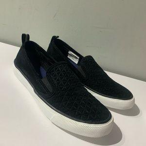 Sperry slip on shoes Black women's 8